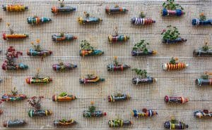 How To Make A Vertical Garden From Plastic Bottles