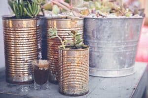 How to Make a Tin Can Vertical Garden