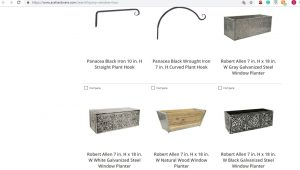 Ace hardware website page for windows plant boxes