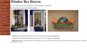 Garden Metal Work website page for windows plant boxes