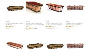 H potter website page for windows plant boxes