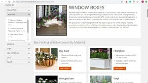 Hooks and Lattice website page for windows plant boxes