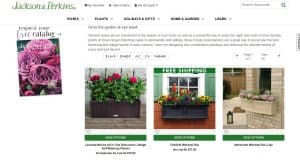 Jackson Perkins website page for windows plant boxes