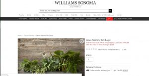 Williams Sonoma website page for windows plant boxes