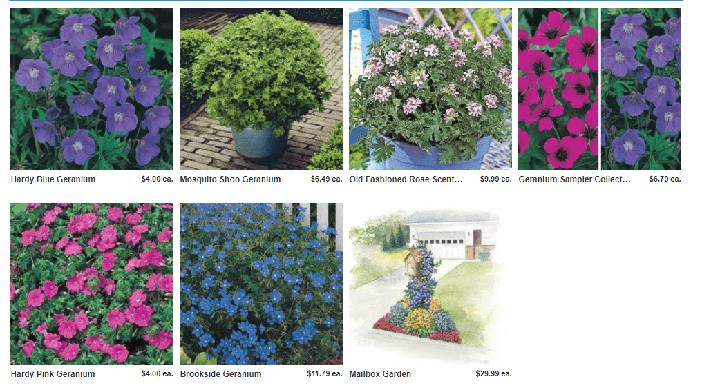Direct Gardening website product page