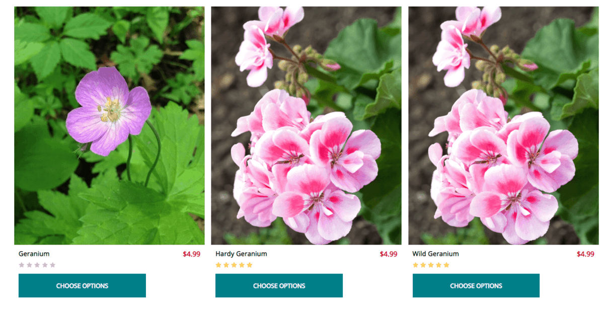 Wholesale Nursery website product page