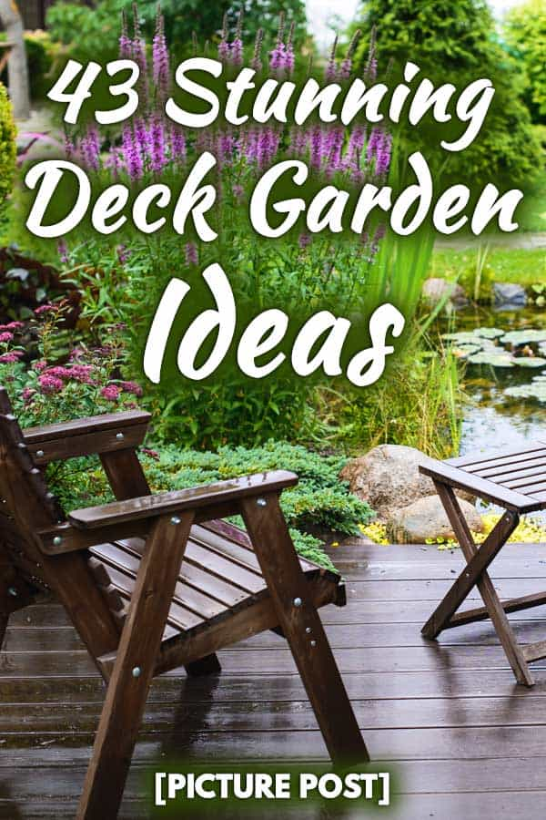 43 Stunning Deck Garden Ideas Picture Post Garden Tabs