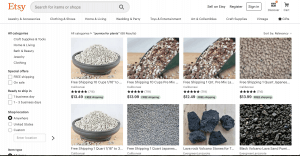 Etsy website product page
