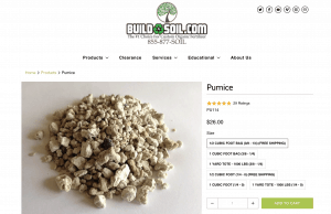 Build A Soil website product page