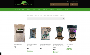 Superfly Bonsai website product page