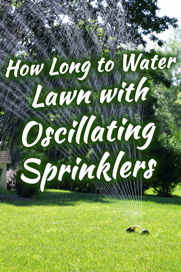 How Long to Water Lawn with Oscillating Sprinklers