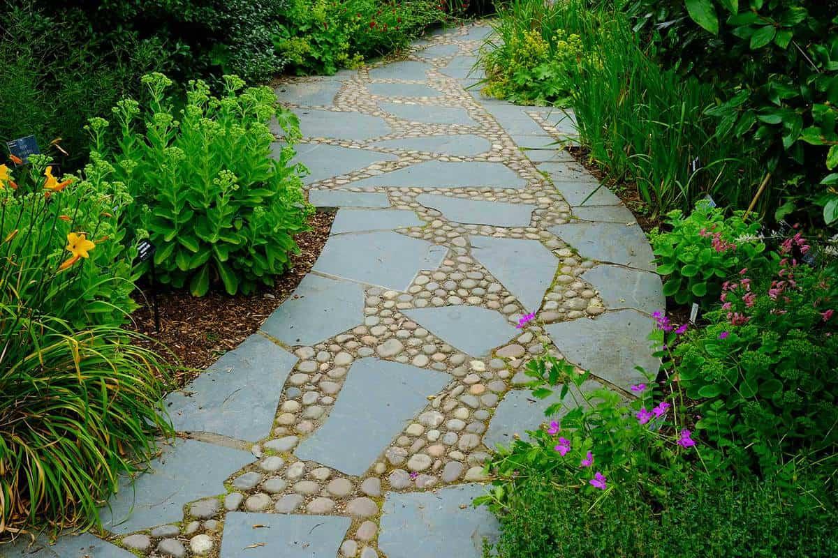 Abstract garden path
