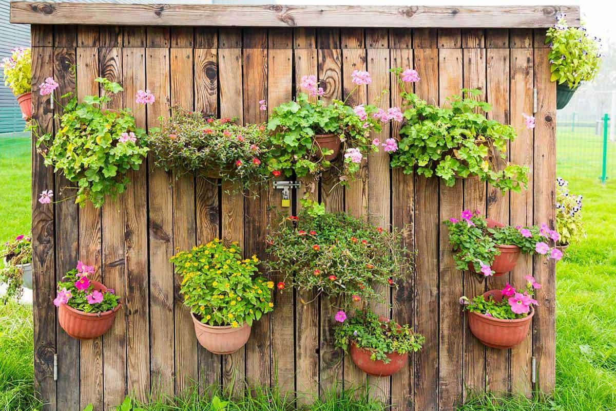 Flowers decoration vertical gardening ideas