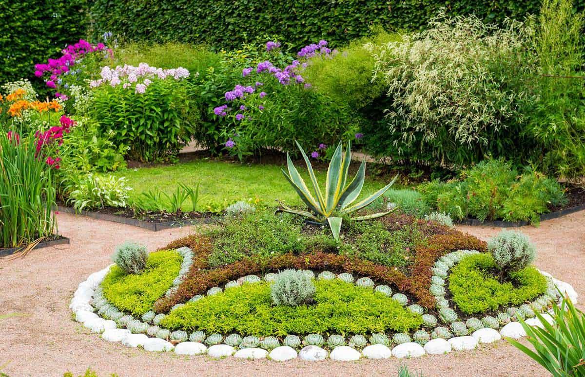 Landscaped succulents