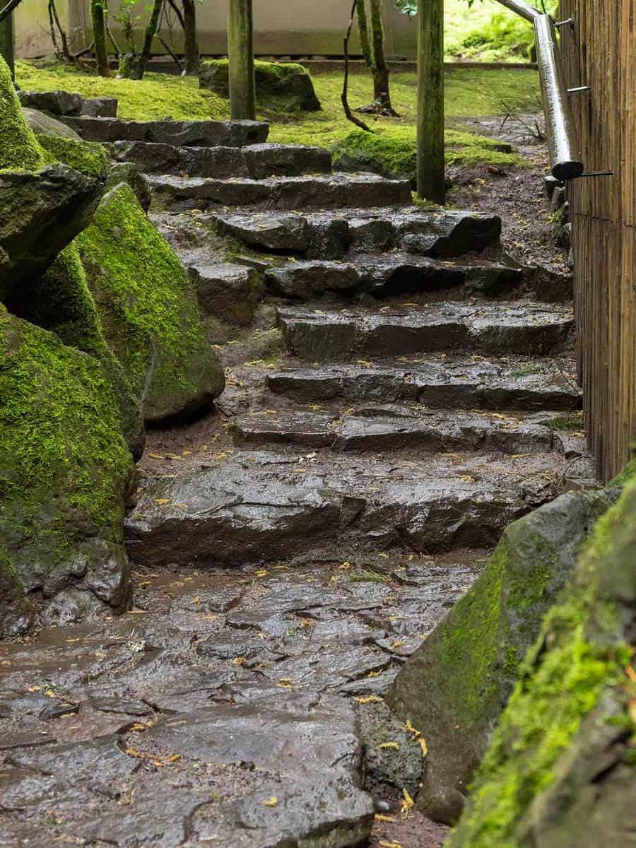 Walkway stone steps