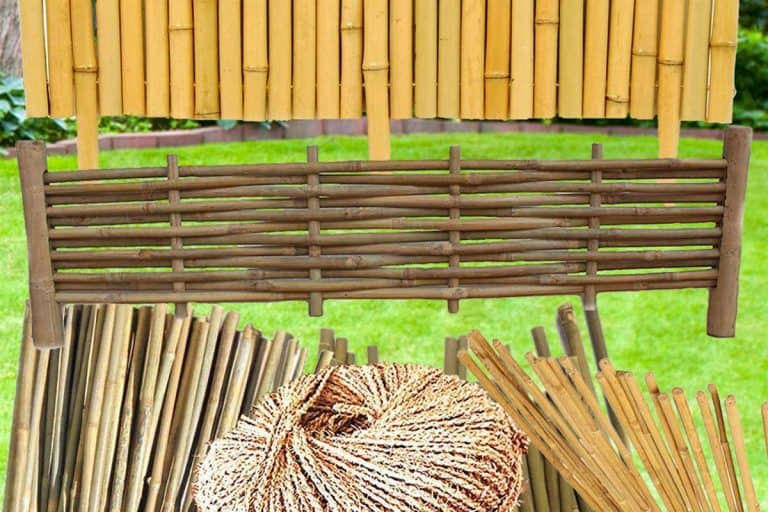 Bamboo Garden Edging [How-To Guides, Tips and Pictures]