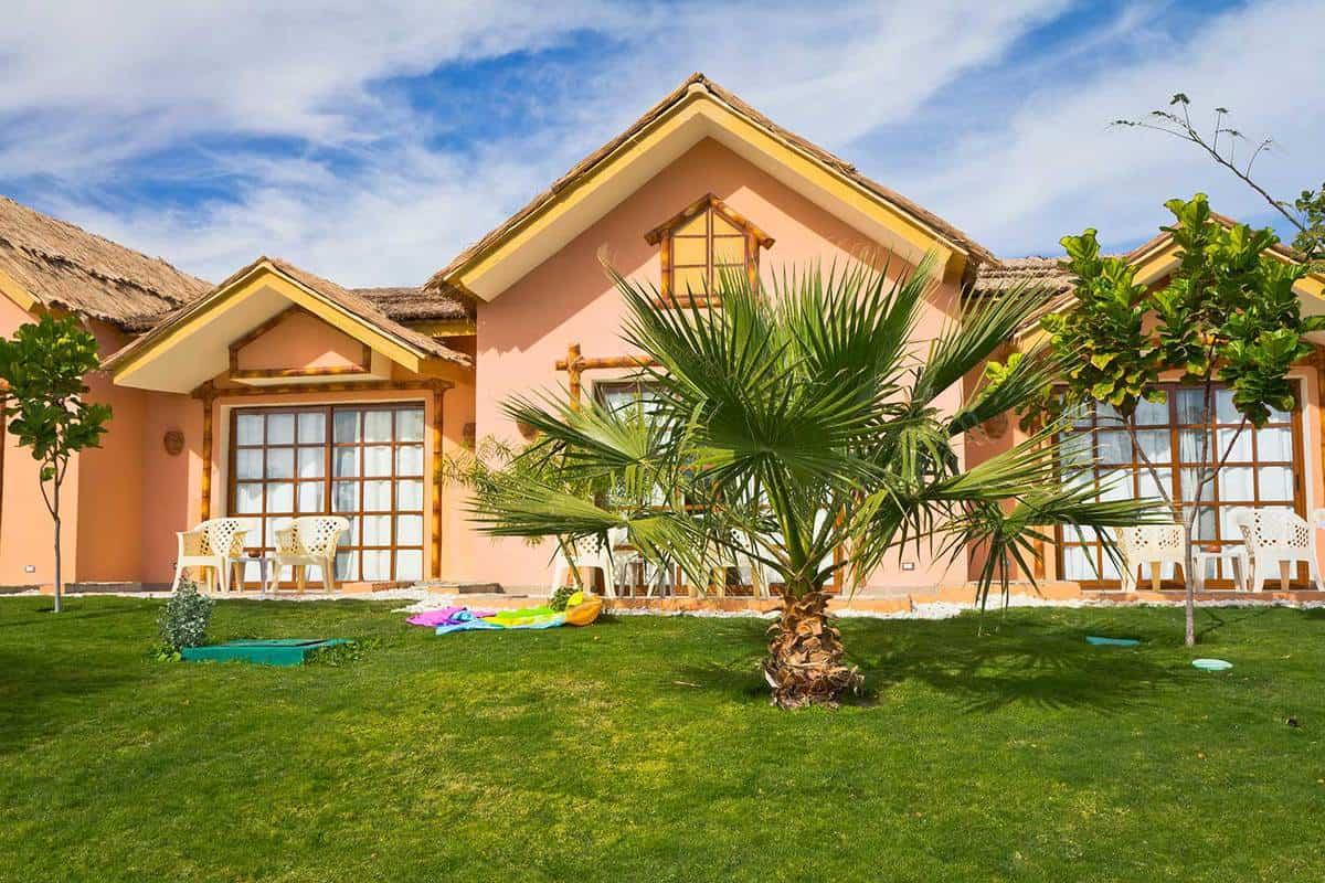 Front yard of a holiday villa