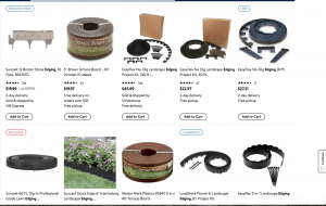 Walmart's site for garden edging