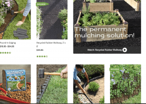Gardener supply Company's site for garden edging