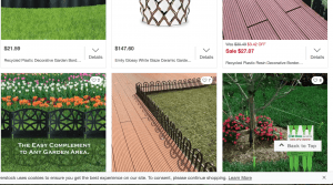 Overstock's site for garden edging