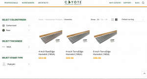 Coyote landscape Product's site for garden edging