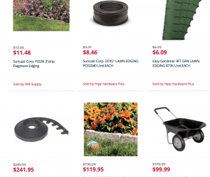 Kmart's site for garden edging