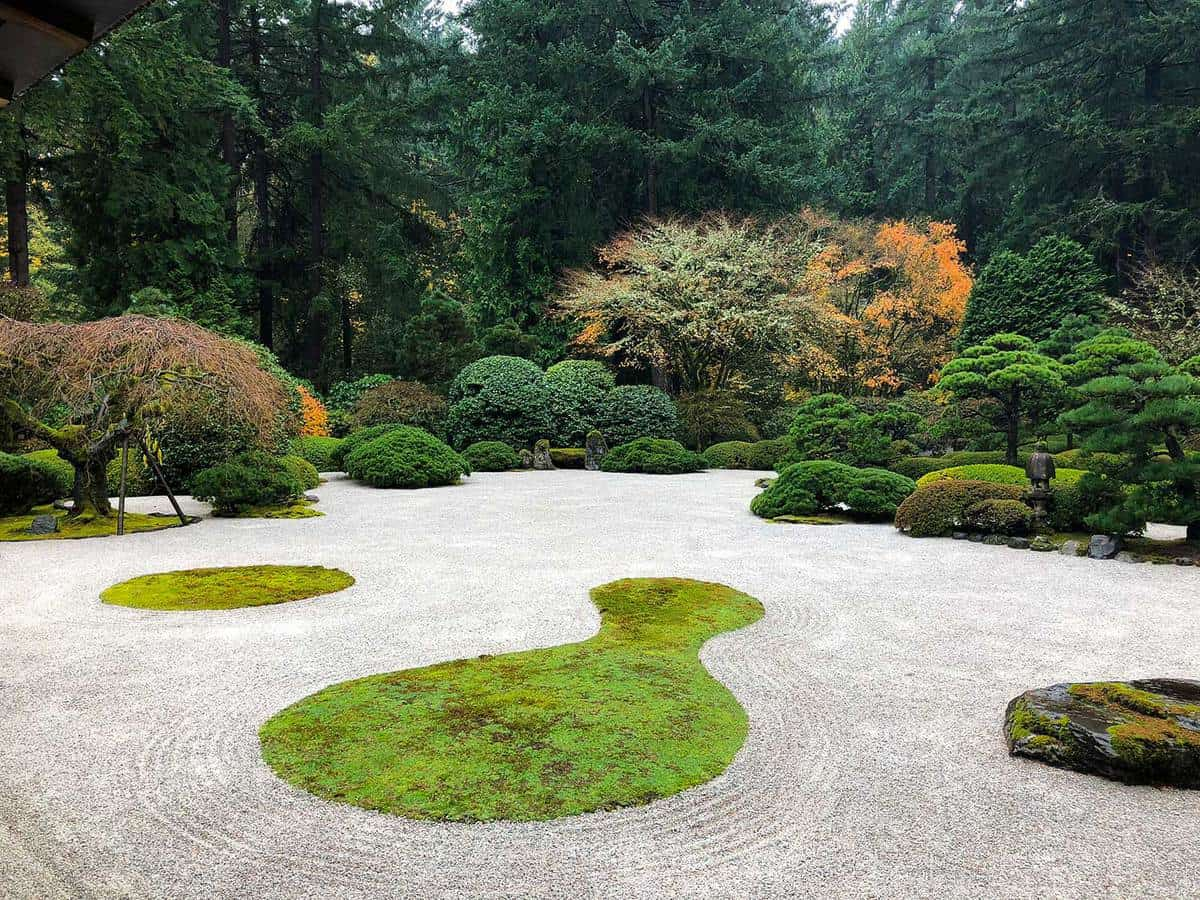 Zen rock garden at the japanese tea gardens