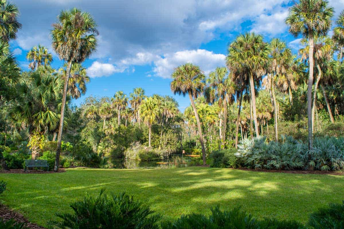 Formal gardens at Bok Tower in Clermont, Florida