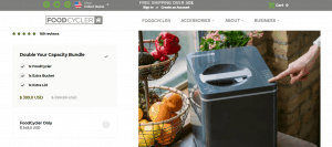 FoodCycler website product page