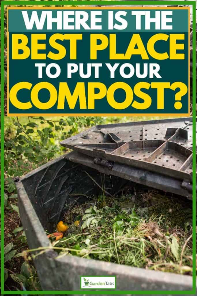 Degradable materials put in the best place for them to compost