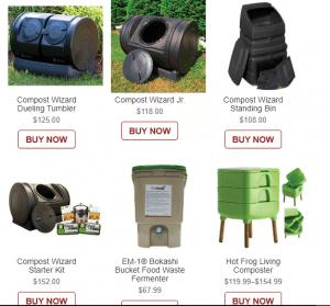 Arbico Organics website product page