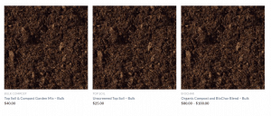 BlueBird Composting website product page