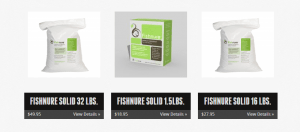 Fishnure website product page