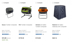 Lowe's website product page