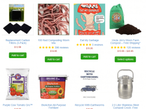 Uncle Jim's Worm Farm website product page