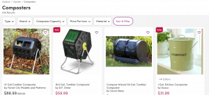 Wayfair website product page