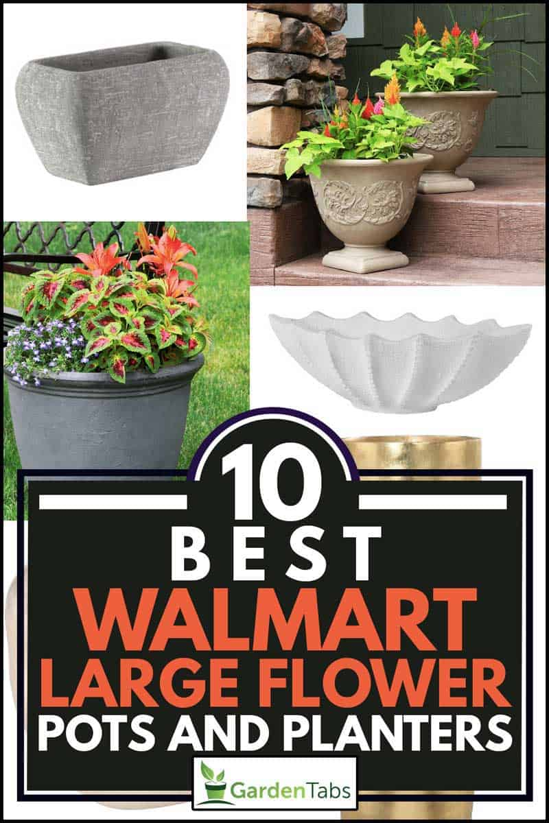 A collage of best walmart large flower pots and planters, 10 Best Walmart Large Flower Pots And Planters