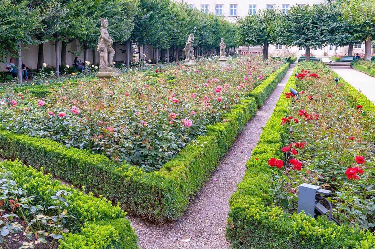 The Garden of Michaelsberg Abbey - Bamberg, Bavaria, Germany