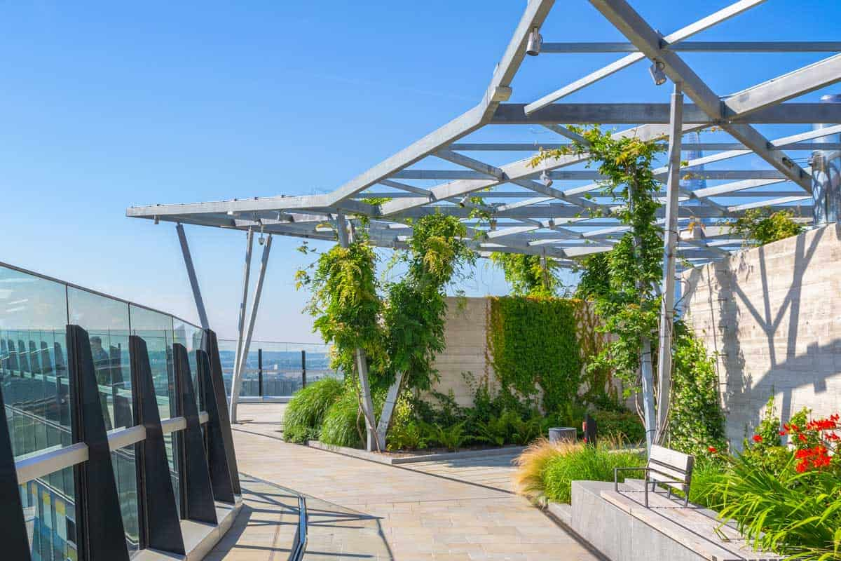 The Garden at 120, a public roof garden in the city of London, UK