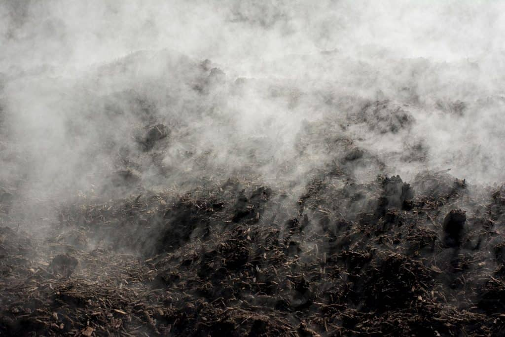 Large scale organic compost production