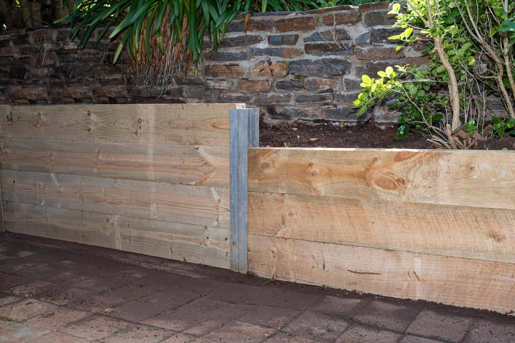 Structural pine retaining wall