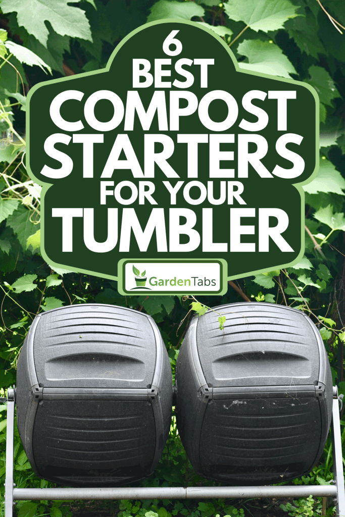 A double tumbling compost bins in the backyard, 6 Best Compost Starters For Your Tumbler