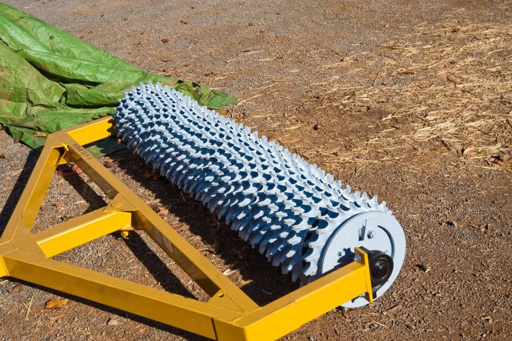 Agricultural aerator used in a vineyard