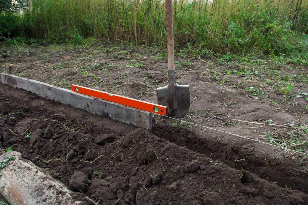 Preparing beds for planting seedlings
