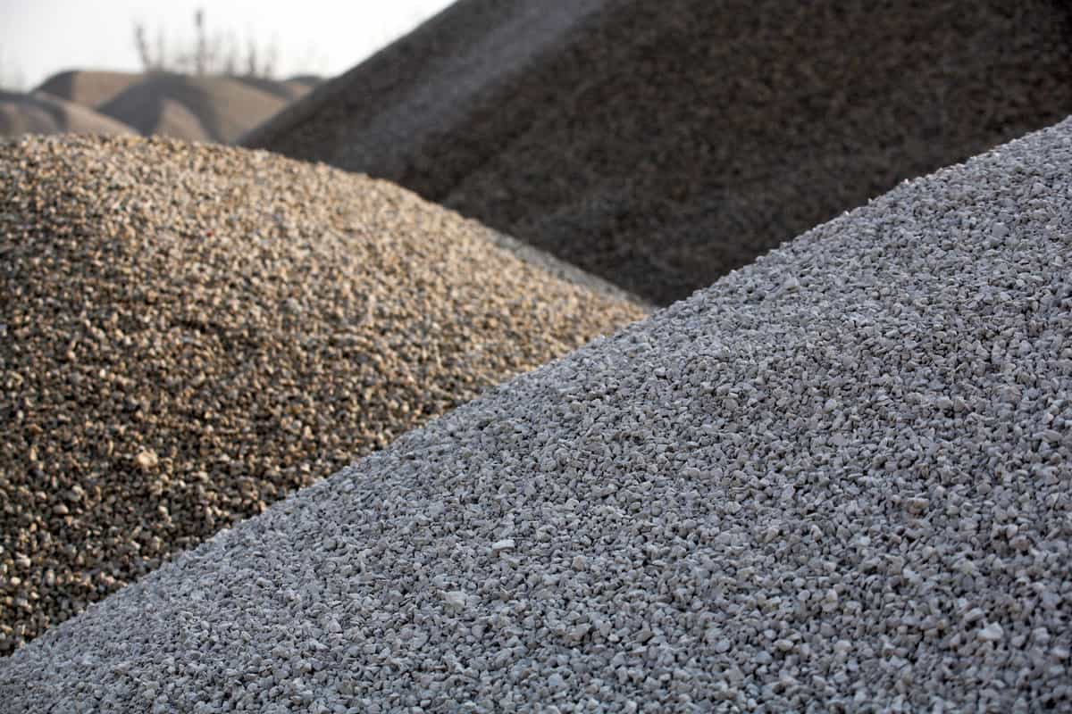 abstract photo of gravel hills