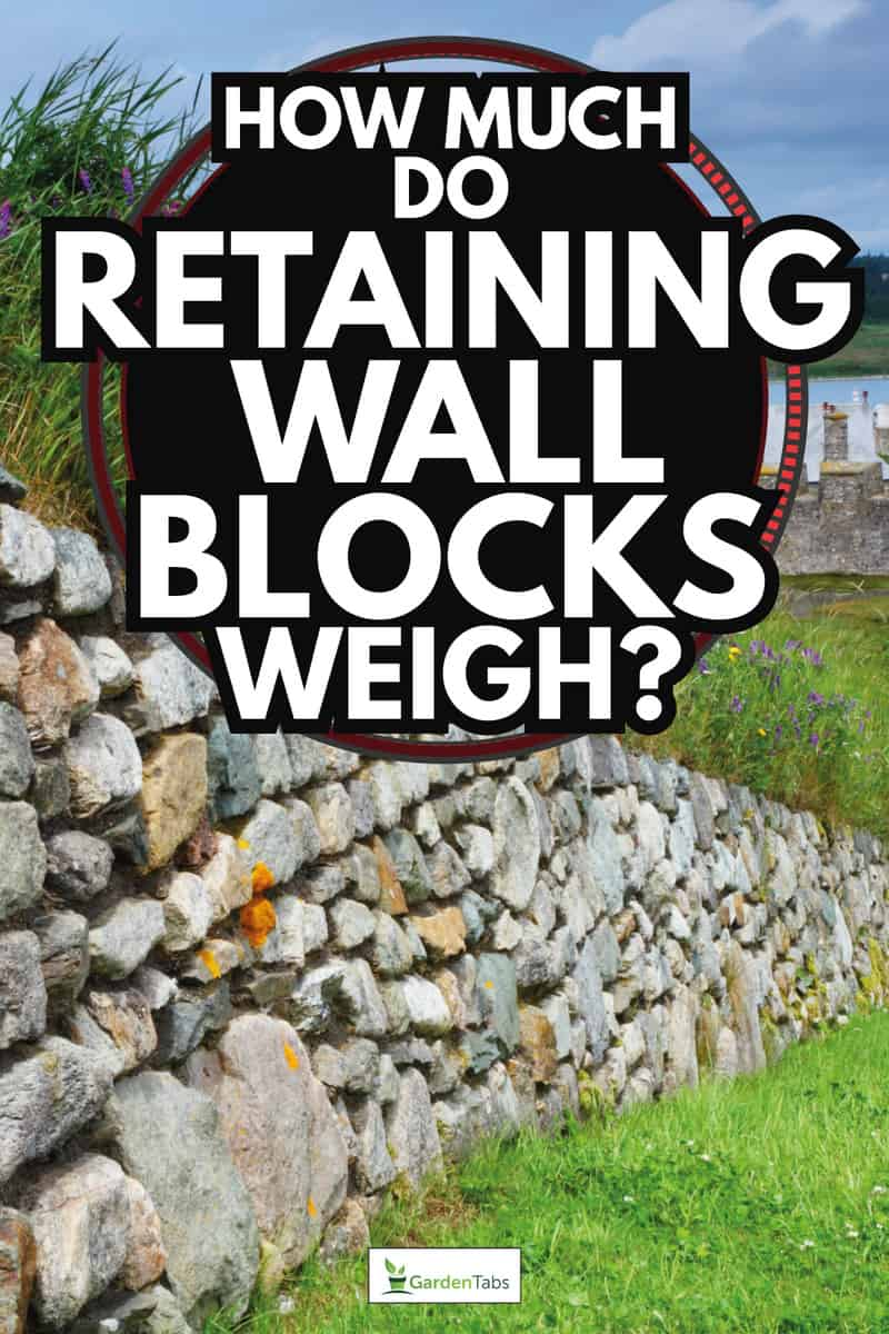 wall blocks fortifications along a beautiful lawn. How Much Do Retaining Wall Blocks Weigh