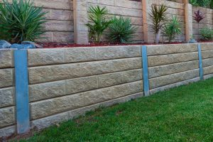 Retaining wall in the lawn, How Far Apart Should Retaining Wall Posts Be?
